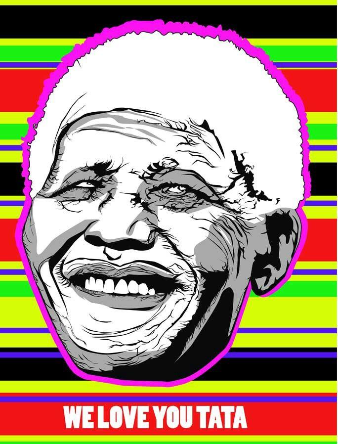 Nelson Mandela Illustration