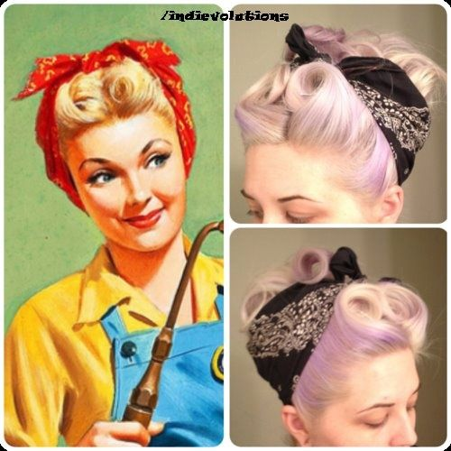 Paleacate passionate about pin up pinterest bandanas coiffure de pin up et pin up - Pin up coiffure ...