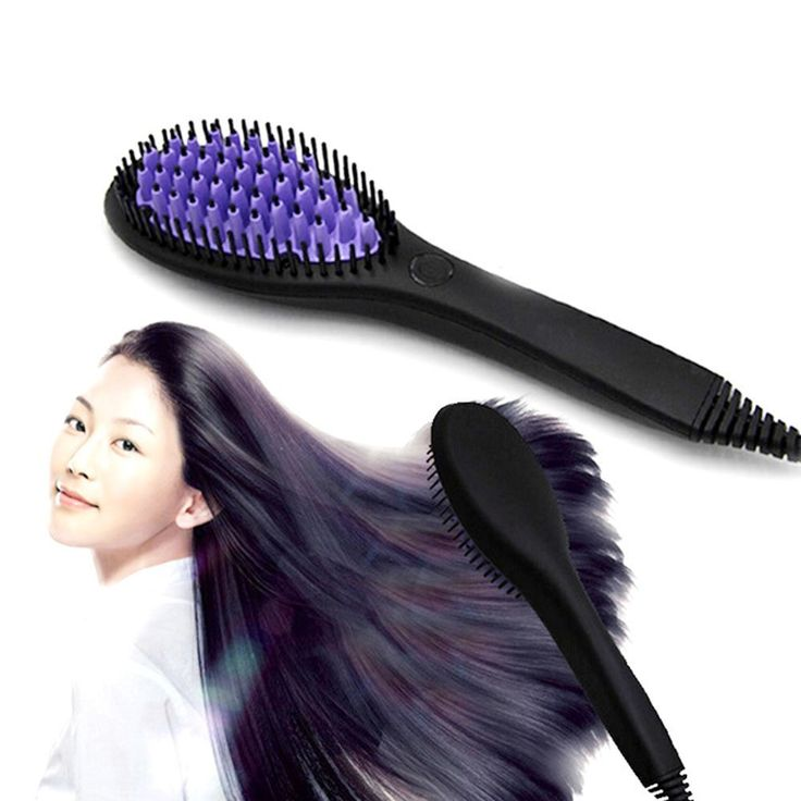 HuntGold Steam Type Anti Static Ceramic Hair Straightener Heating Hair Comb Brush >>> Check this awesome product by going to the link at the image.