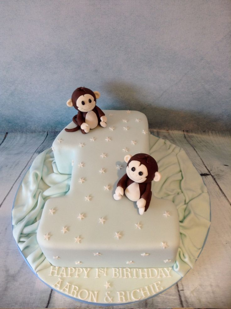 Monkey number one cake
