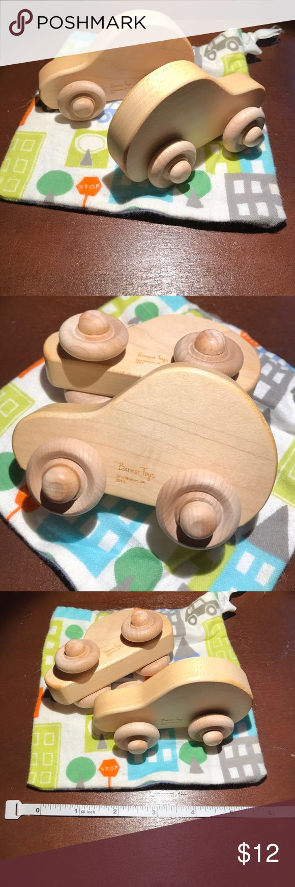 Handmade Wooden Cars Hand crafted, toxic free, made with love by Bannor Toys. Comes with bag shown. Bannor Other