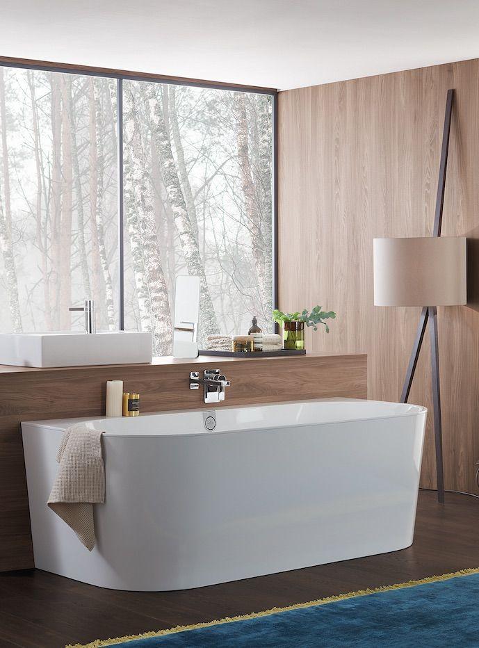 8 Baignoires Semi Ilots Le Design Sans Les Difficultes De Pose Idee Salle De Bain Salles De Bains De Reve Baignoire