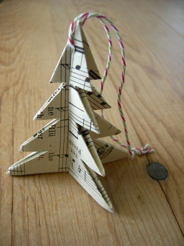 weihnachtsbaum basteln tannenbaum papier