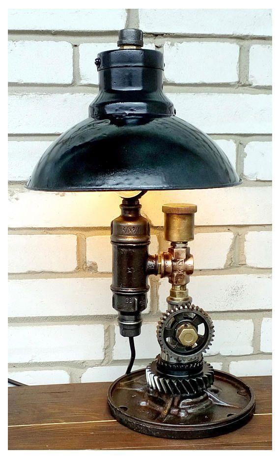 Teal Bedside Lamp Table Lamps For Bedroom Industrial Lamps Vintages Desk Light Industrial Desk Lamp Vintage Old Fashioned B Lamp Table Lamp Steampunk Lamp
