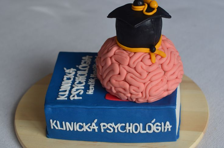Psychological book with brain and absolvent hat :-)