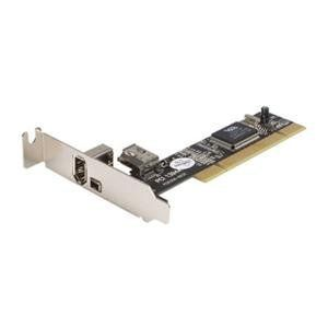 2-Port FireWire PCI Card (PCI1394-2LP) - by StarTech. $33.74. This 3 Port PCI Low-Profile/Half-Height 1394a FireWire Adapter Card turns a motherboard PCI slot into two external IEEE 1394a FireWire slots (1x6-pin, 1x4-pin), and provides an internal (6-pin) FireWire port that can be used in place of the external 6-pin connector - a cost-effective solution that lets you connect any FireWire 400 device to your desktop computer.  Compatible with either Mac or PC com...