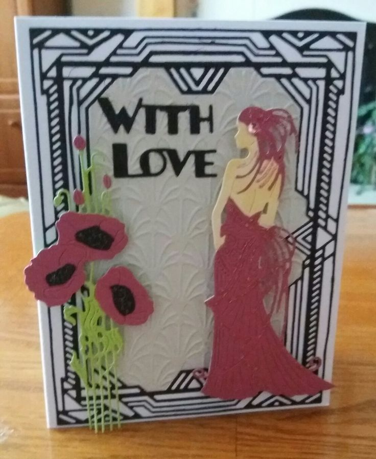 Used Tattered Lace Art Deco dies for this card.