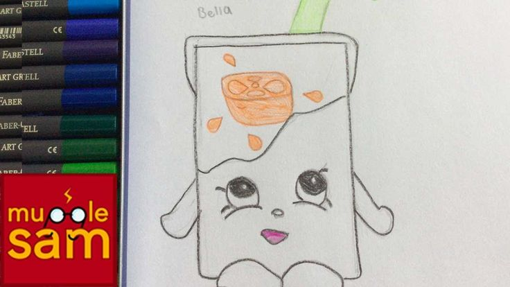 Kids Art Challenge! Drawing Lucy Juice Box Shopkins | Mugglesam