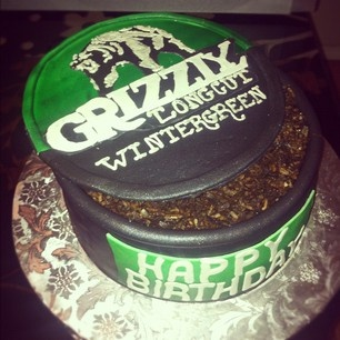 @Sugar Cubed Cake Creations grizzly chew can birthday cake    Oh man. These Central Lake Boys would love this