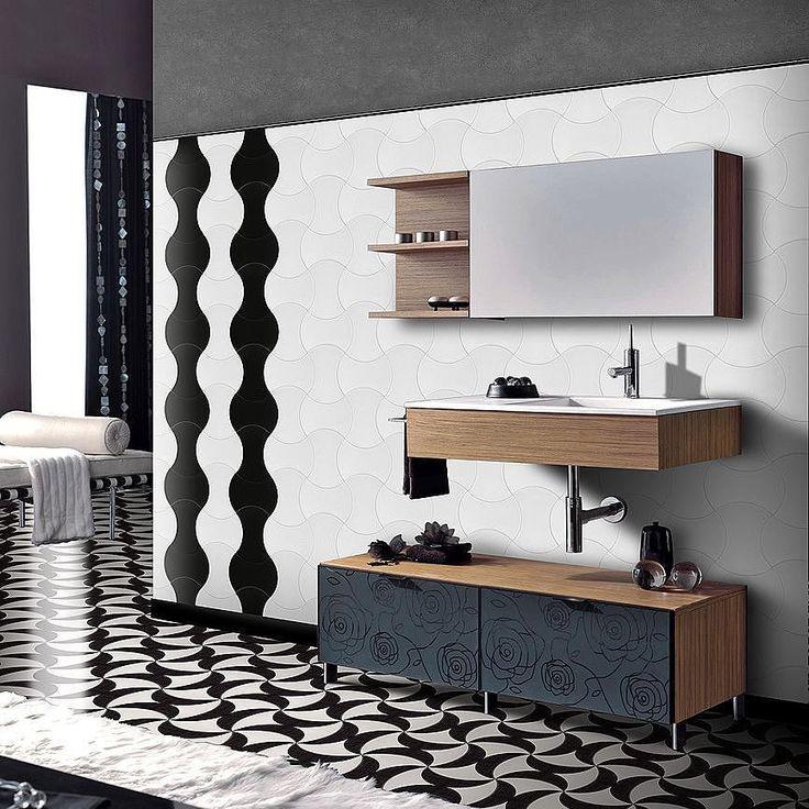 Eleganti minimal di stile... non c'è limite all'immaginazione! Creiamo per te la tua personale composizione con le piastrelle per la casa per interni ed esterni! Vieni a trovarci da #CeramicheVaccarisi http://ift.tt/2hbGm18 - #black #white #bathroom #bathroomdecor #bathroomdesign #italianbathroom #bathrooms #ideas #tiles #interiors #interiordesign #design #sicily #sicilia #italy #italia