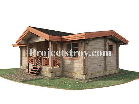 Одноэтажный брусовой дом 10.5 на 8.5 м - 60 кв. м для круглогодичного проживания.  Брус: сухой или естественной влажности - 200х200 мм. #Loghomes #Logcabins