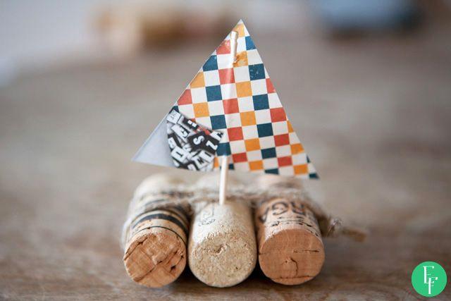 esik floresik: Ahoy! #diy #doityourself #diyproject #project #crafts #kids #gift #giftidea #sailboat #boat #marine #sea #sail #cork #winecork