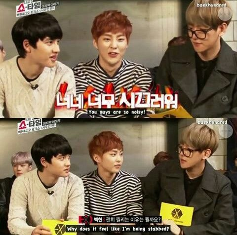 I love this trio! My top 3 EXO biases, only Yixing is missing for it to be my 4 favorite guys in one picture :D