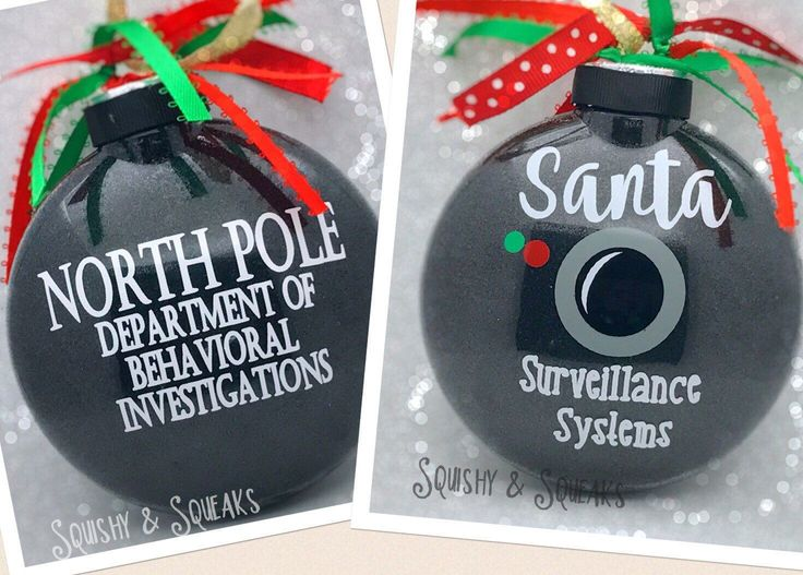 Santa Cam- LARGE, Santa Camera, Santa Ornament, Glitter Christmas Ornament, Santa Surveillance, North Pole Viewer by SquishyandSqueaks on Etsy https://www.etsy.com/listing/476523486/santa-cam-large-santa-camera-santa