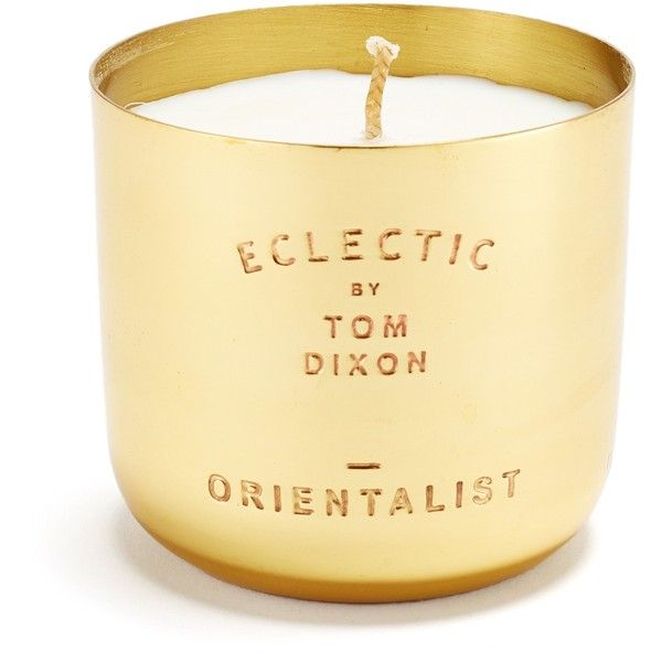 Tom Dixon Eclectic Collection Orientalist Brass Candle found on Polyvore