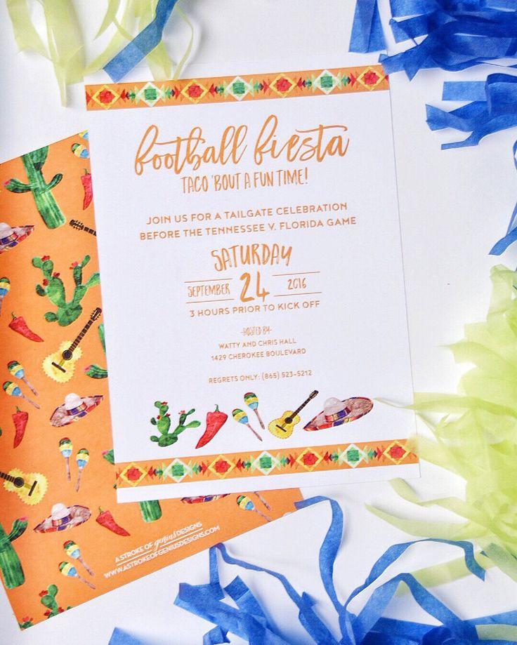 Fiesta Invitation by AStrokeofGeniusShop on Etsy https://www.etsy.com/listing/476005428/fiesta-invitation