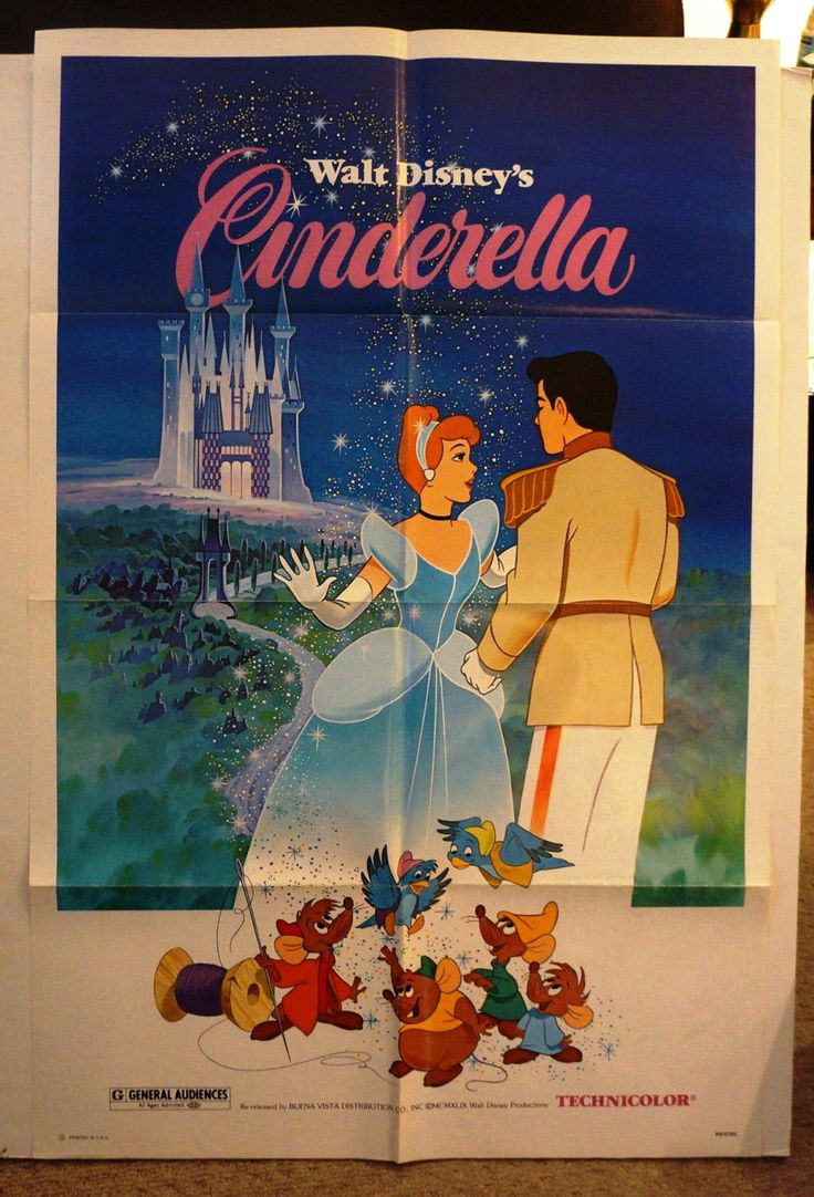 """Excited to share the latest addition to my #etsy shop:  Walt Disney's """"CINDERELLA"""" Original Movie Poster One-Sheet       http://etsy.me/2DngDxL"""