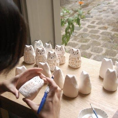 Cute owls being made. these are not really made from pc but would be fun to try it.