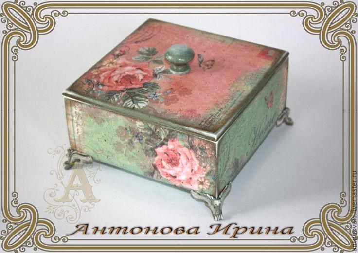 """Shkatulka- """"Rosary"""" Housing manual raboty.Antonova Irina.Yarmarka Masters."""