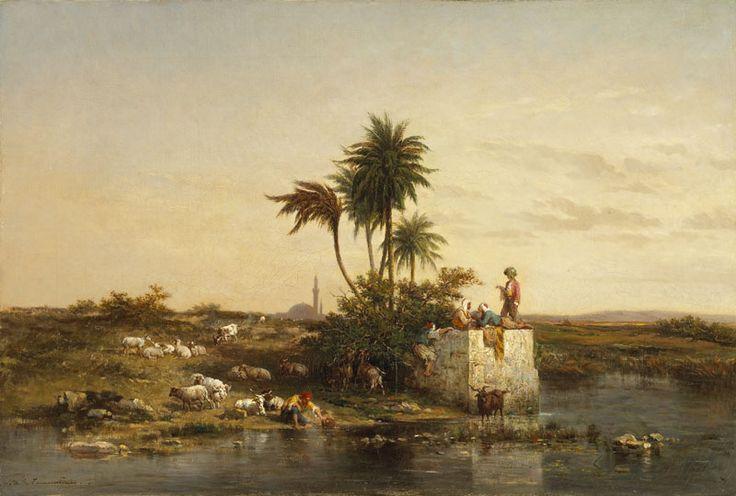 Charles Émile TOURNEMINE, (Toulon, 1812 - Toulon, 1872), Souvenir d'Asie Mineure, vers 1858, huile sur toile. Inv. RO 281. Non exposée. Photo Daniel Martin.