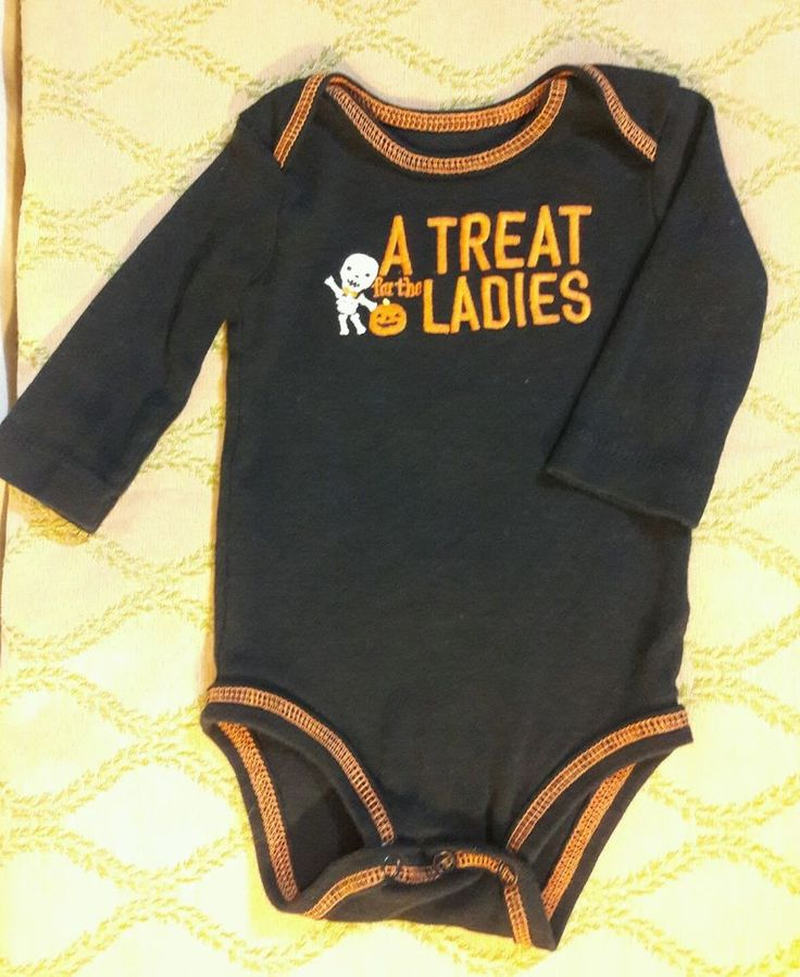 Carters HALLOWEEN baby crawler 3M Just One You TREAT for the LADIES 1pc Long slv #JustOneYoubyCarters #CasualParty