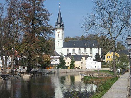 Schwarzenbach an der Saale.  Oberfranken. Deutschland.  Wikipedia