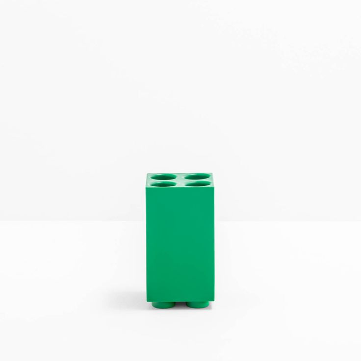 Brik, Play with colours design Pio and Tito Toso _ Brik is an umbrella stand, featured by a pure volume, with the aim of containing in a tidy way and in the smallest possible space. It is a practical object for rainy days as well as a modular piece of furniture for all the other days of the year.  #Christmas