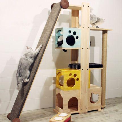 Les 25 meilleures id es concernant arbres chat maison for Arbre maison jouet