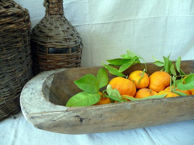 Antique Wood Dough Bowl XL Trencher Trough European Circa 1940s// Cottage Rustic Primitive Country Shabby. via Etsy.
