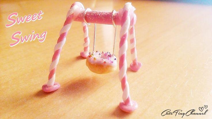 Tutorial ♥ Sweet Donut Swing: Polymer Clay Miniature ♥ Mini Dulce Columpio Dónut de Arcilla Polimérica