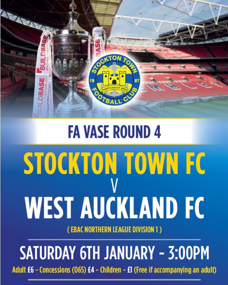 Stockton Town v West Auckland Town FA Vase Saturday 6th January 2018