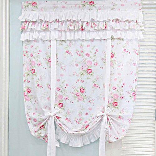 White romantic shabby chic curtain