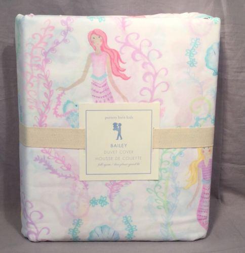 Duvet Covers 134641: Pottery Barn Pink Bailey Mermaid Full Queen Duvet Cover -> BUY IT NOW ONLY: $74.99 on eBay!