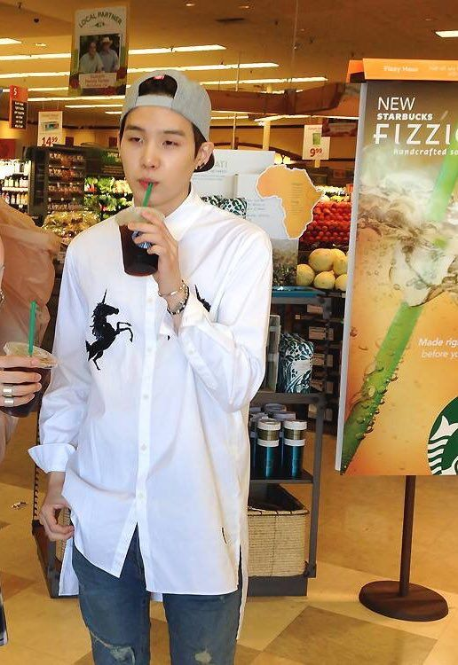 """Posted on your social media with a caption. """"This guy is so addicted to starbucksseu"""""""