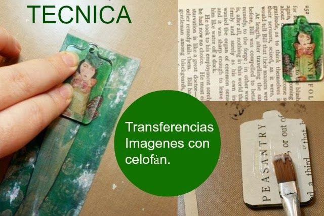 Como hacer transferencias de Imagenes con cinta de celofan - enrHedando