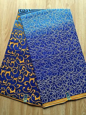 New African Cotton Print Fabric Ankara Beautiful Bright Colors Sold Per Yard
