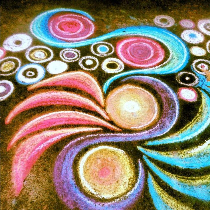 Image result for sidewalk art walk chalk