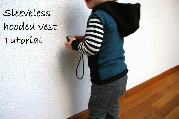 sleeveless hooded vest tutorial