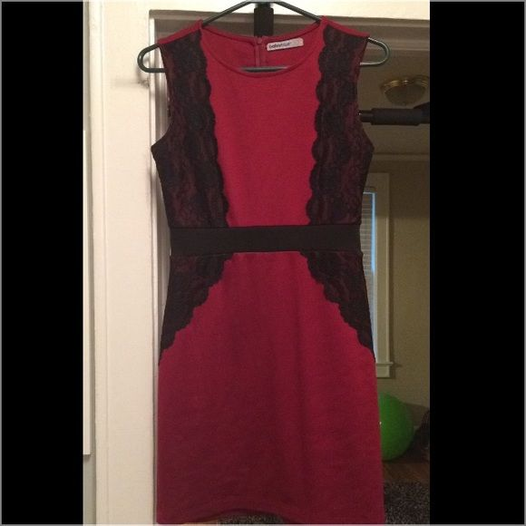 Black and Garnet dress Cute cocktail or dinner party dress Dresses Strapless