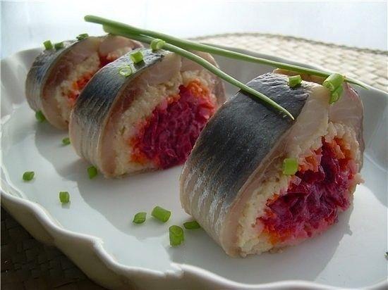 Рулетики селедка под шубой | Самые вкусные рецепты