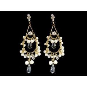 Gold Chandelier Earrings J9331