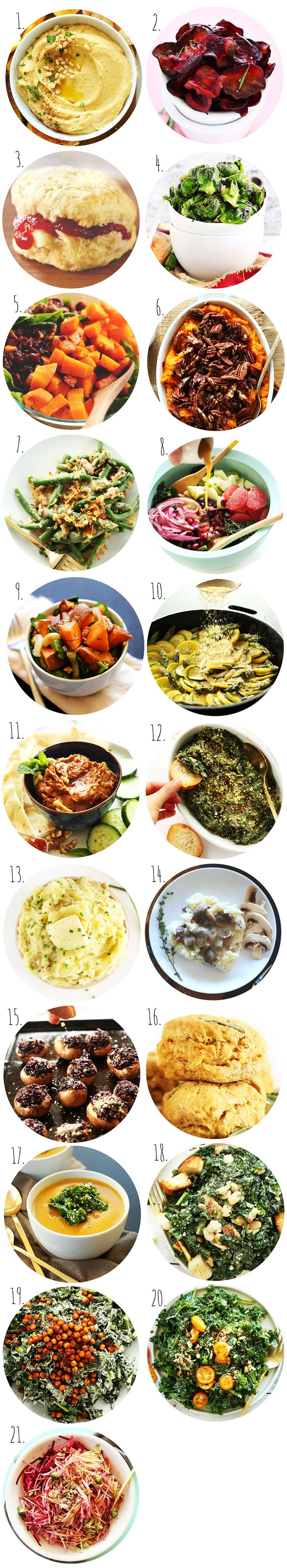 21 plantbased Christmas sides and appetizer recipes #holidayrecipe #wintertime
