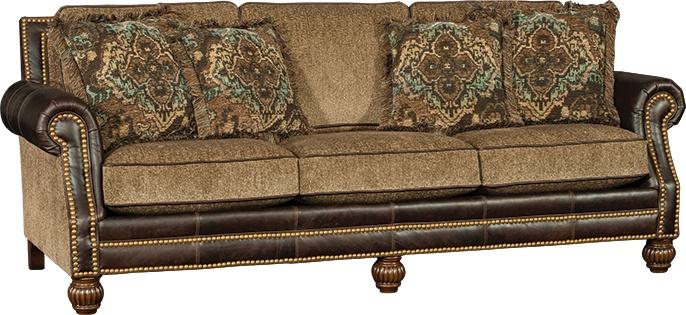 Mayo Furniture 4300lf Leather Fabric Sofa Sumter Stone