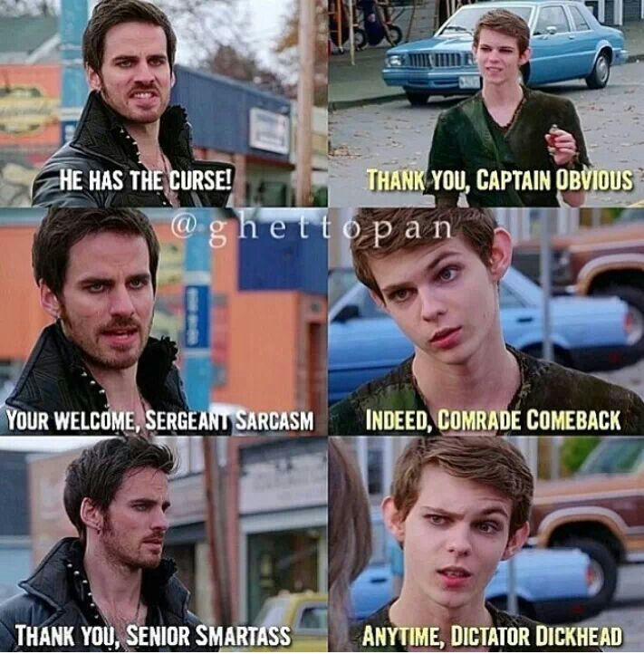 Hook and Pan are the kings of sass << I wish it had happened this way!