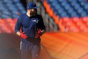 Julian Edelman #11 of the New England Patriots warms up prior to the AFC Championship game against the Denver Broncos at Sports Authority Field at Mile High on January 24, 2016 in Denver, Colorado.