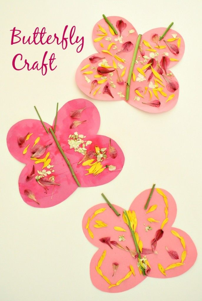 Butterfly Craft for Kids...spring art with fresh flowers