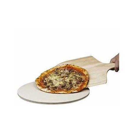 Rund bagesten eller pizzasten fremstillet i uglaseret stentøj. Diameter: 39 cm. Der medfølger en bagespade/pizzaspade i træ (bredde: 28 cm, længde 46 cm inkl. skaft). Bagestenen er også særdeles velegnet til at putte på grillen.