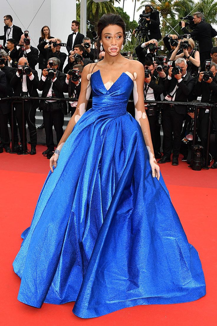 Winnie Harlow in Zuhair Murad at the Loveless premiere, Cannes 2017