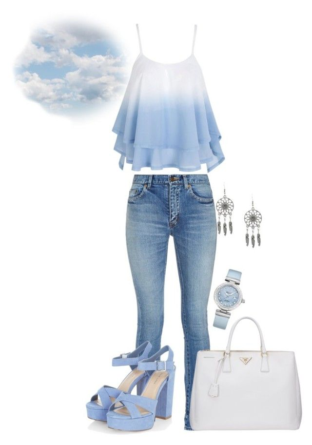 """cloud"" by kdorisz on Polyvore featuring Yves Saint Laurent, Prada and OMEGA"