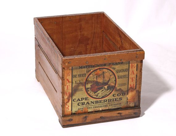 Vintage Cranberry Shipping Crate Eatmor Cranberries Box
